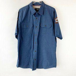 Harley Davidson Button Short Sleeve Work Shirt